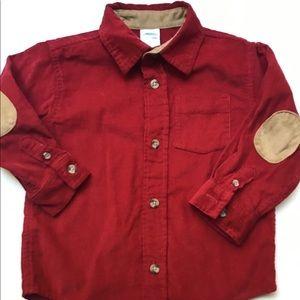 Gymboree Corduroy Button Up Elbow Patch Shirt